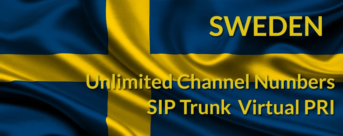 Sweden Numbers with unlimited channels | Sweden Virtual PRI