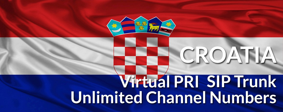 Croatia Numbers with unlimited channels | Croatia Virtual PRI