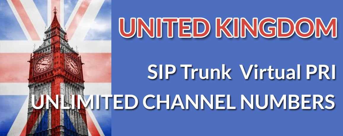 Uk Virtual Number |unlimited Channels |Lodon|Birmingham $9 a month
